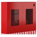 Щит пожарный закрытый с окнами металлический двухдверный