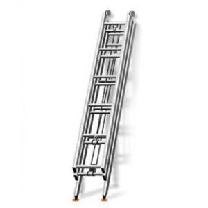 Лестница трехколенная ручная выдвижная