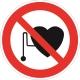 Знак запрещается работа (присутствие) людей со стимуляторами