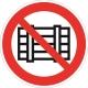 Знак Запрещается загромождать проходы