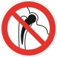 Знак запрещается работа людей, имеющих металлические имплантанты
