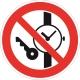 Знак Запрещается иметь при себе металлические предметы