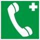 Знак телефон связи с медицинским пунктом (скорой медицинской помощью)