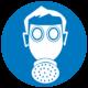Знак работать в средствах индивидуальной защиты органов дыхания