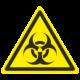 Знак осторожно. Биологическая опасность (Инфекционные вещества)