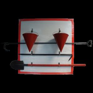 Щит пожарный металлический с комплектом