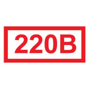 знак указатель напряжения 220В