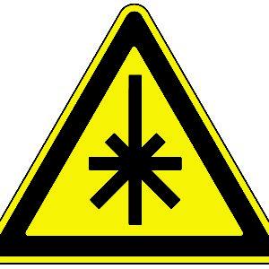 Знак лазерная опасность