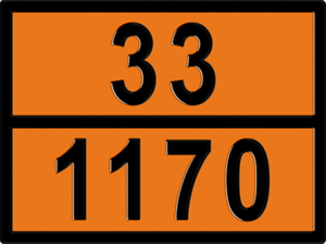 Табличка знак этанол
