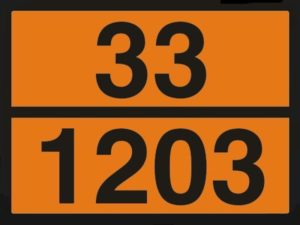 Табличка знак бензин по ДОПОГ