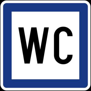 Знак туалет (WC)